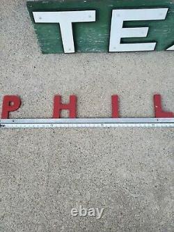 Rare Vtg PHILLIPS 66 PHILCHECK DEALER Gas Pump Oil Can Metal Tin Porcelain Sign