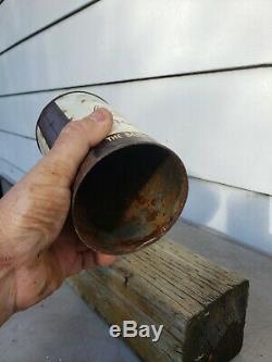 Rare Vtg advertising be-o-co beaver oil one Imperial quart motor oil can