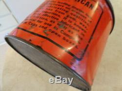 Rare Wadhams Badger Lubricant Wisconsin Grease Can Oil Can