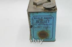 Rare bidon huile oil can berliet version un litre superbe état