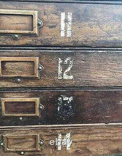 Rare original Victorian Architects Artist Plan Chest amazing patina can deliver