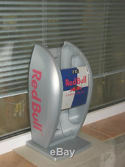 Red Bull display sign dispenser cans redbull energy drink used rare gray stand
