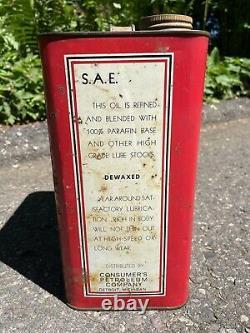 Super Lube Motor Oil Detroit Rare 2 Gallon Can Fair/Good Best Offer! (1835)