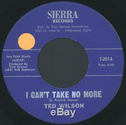 TED WILSON I Can't Take No More / My Aim Is To Please 45 (sm tol) rare Soul