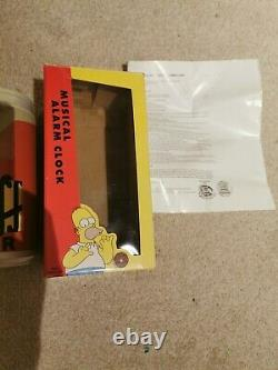 The Simpsons Duff Beer Can Musical Alarm Clock Boxed Instructions 1999 RARE
