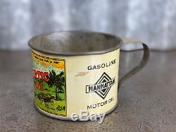 Trop-Artic Auto Oil Cup Tin Can Manhattan Co. Automobile Vintage NOS RARE