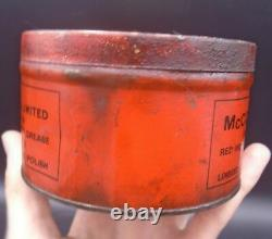 ULTRA RARE 1920's VINTAGE McCOLL BROS VESTA CUP GREASE CAN RED INDIAN OIL