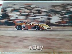 ULTRA RARE Original 1971 McLaren M8B Can Am Denis Hulme Riverside 8ftx5ft