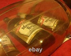 ULTRA RARE Vintage Meister Brau Draft Beer Bottles Cans Bar Pub Tavern Sign HTF