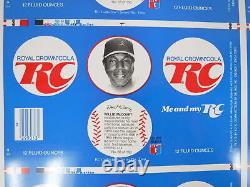 VTG Rare RC Royal Crown Cola Soda Aluminum Can Uncut Sheet 35 Baseball Players