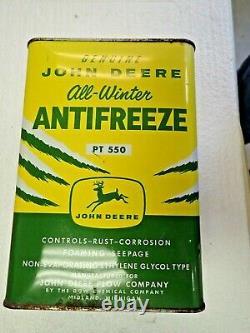 Very Rare John Deere Four Legged Anti Freeze Coolant Can PT550 Oil JD One Gallon