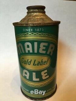 Very Rare Maier Gold Label Ale Cone Top Beer Can