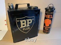 Very Rare Vintage Bp / Shell Duo Petrol Can Petroliana Automobilia Not Enamel