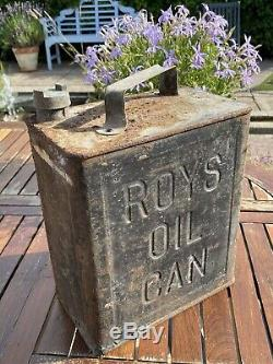 Very Rare Vintage Original Fuel Can Roys Oil Can