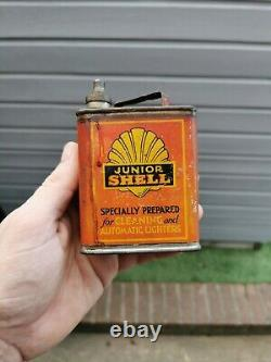 Vintage 1920s Shell Junior Can Very Rare Must See