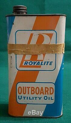 Vintage 1950's ROYALITE Outboard Motor Oil Can, RARE