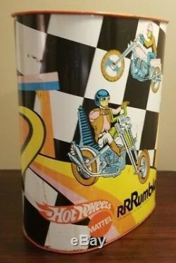 Vintage 1971 Hot Wheels Rumblers Motorcycle Trash Waste Can Mattel Rare