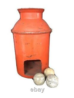 Vintage Antique Carnival Fair Toss Game Milk Can Pitch Rare With Hole