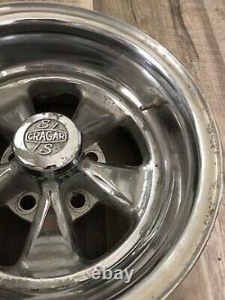 Vintage CRAGER SS Mag Wheel Cap Chevy Camaro Chevelle Impala GTO 15x8 442 Rims