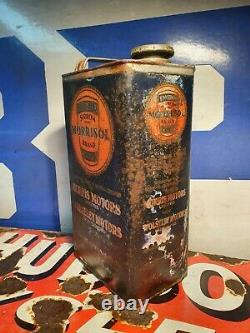 Vintage Duckhams Morrisol Motor Oil 1 Gallon Can / Tin Rare Early Automobilia