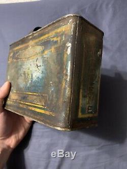 Vintage Early Rare 1/2 Half Gallon Zerolene Standard Oil Polar Bear Oil Can