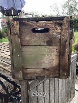 Vintage Esso 2 Gallon Petrol Can Crate Very Rare Not Oil Jug Enamel Sign Pump