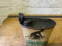 Vintage Everyman Cycle Oil Can Oil Tin Oil Jug Barn Find Rare Castrol Wakefield