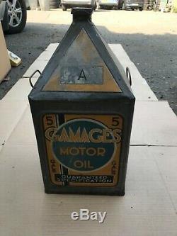 Vintage Gamages 5 Gallon Oil Can Rare Austin Grade