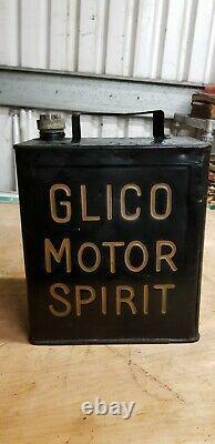 Vintage Glico Motor Spirit Petrol Can Collectable Rare Memorabilia Man Cave