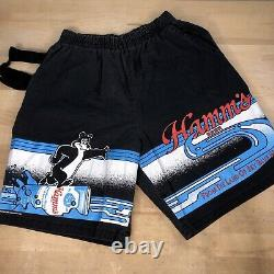 Vintage Hamms Beer Shorts with Can Holder Size M Zodas Made In USA Super Rare 80s