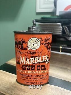 Vintage Marbles Arms Co Gun Oil Can / Handy Oiler, Rare Lead Top Gladstone MI