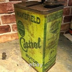 Vintage Motor Oil Can Wakefield Castrol Very Old Rare Can #2513