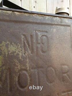 Vintage NFO Motor Spirit 2 Gallon Petrol Can Automobilia Collectable RARE 1926