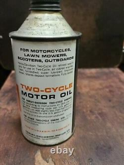 Vintage OEM Harley Davidson Cone Top Two Stroke Motor Oil Can 1950's 1960's Rare