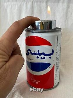 Vintage Official DC Comics Super Man Pepsi Can Advertising UAE Rare 70s-80s