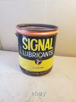 Vintage Oil Can Signal Oil Company Lubricants 5 Gallon, Rare