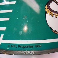 Vintage P&K Washington Redskin NFL Trash Can Waste Basket Garbage Metal Can Rare