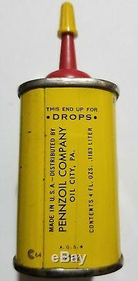Vintage Pennzoil Can Handy Oiler Rare Lube oil metal gas old #1
