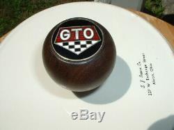 Vintage Pontiac GTO Walnut Factory 4 speed Hurst Shifter Shift Knob Muncie GM OE