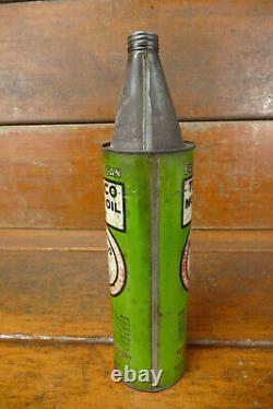 Vintage RARE 1920s Texaco Port Arthur Easy Pour Half Gallon Motor Oil Can