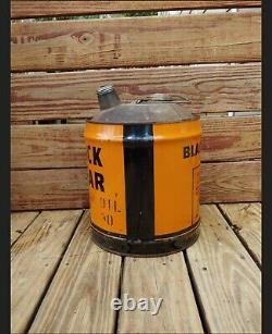 Vintage RARE Black Bear Motor Oil 5 Gallon Advertising Can