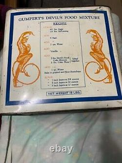 Vintage RARE Gumperts Devils Food Devil Graphic Food Tin 15 Lbs Can