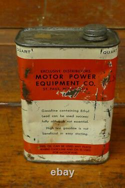 Vintage RARE Wil Mix Outboard Marine Motor Oil One Quart Oil Can St Paul, Minn