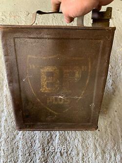 Vintage Rare 1933 Bp Plus 2 Gallon Petrol Can Oil Automobilia Old