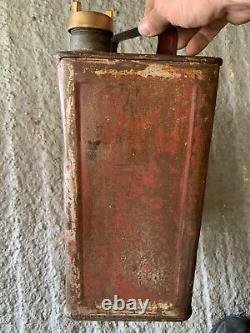 Vintage Rare 1938 Mobiloil 2 Gallon Petrol Can Oil Automobilia Old