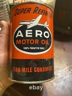 Vintage Rare. Aero Oil 1 Qt Oil Can