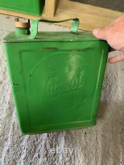 Vintage Rare Castrol 2 Gallon Petrol Can Oil Automobilia Old