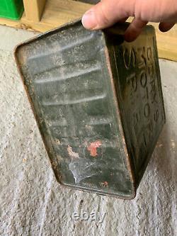 Vintage Rare Corys 2 Gallon Petrol Can Oil Automobilia Old