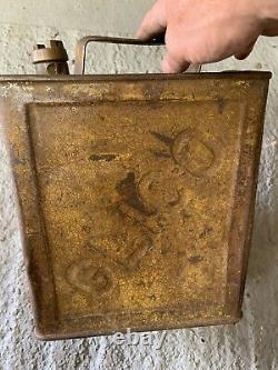 Vintage Rare Glico 2 Gallon Petrol Can Oil Automobilia Old
