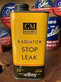 Vintage Rare Gm Parts Accessories Radiator Stop Leak Can